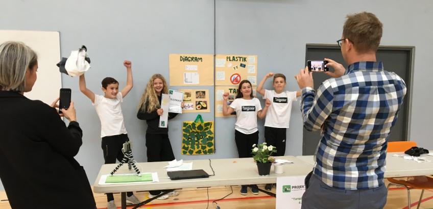 Vinderne af lokalfinalen af Projekt Edison på Skovlunde Skole 2020
